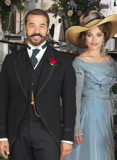 Jeremy Piven and Zoe Tapper as Mr Selfridge & Ellen Love in Mr Selfridge