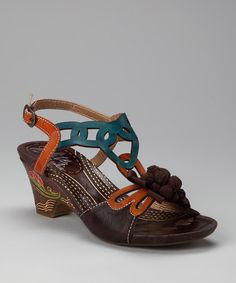 Take a look at this Chocolate Yuma Sandal by Elite by Corky's Footwear on #zulily today!