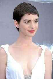 Designer Clothes, Shoes & Bags for Women Anne Hathaway Haircut, Beautiful Blue Eyes, Beautiful Beautiful, Anne Hattaway, Beauty Trends, Camisole Top, Hair Cuts, Tank Tops, My Style