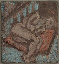 Pauline Asleep on a Large Pillow. Leon Kossoff