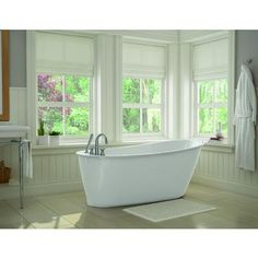 MAAX Bath - White Sax Freestanding Soaker Tub - 105797-000-002-100 - Home Depot Canada