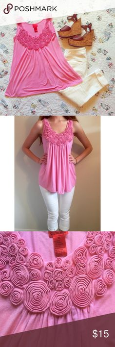 Flowing pink Sleeveless blouse - Flowing pink sleeveless blouse in like new condition V Christina  Tops Blouses