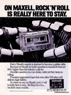 Maxell cassette tape ads (1980s)