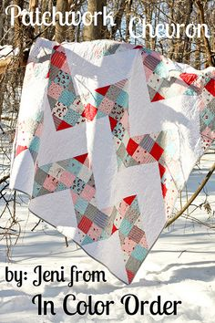 Patchwork Chevron Quilt Tutorial by Jeni Baker, via Flickr