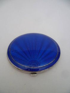 TURNER& SIMPSON SILVER SUNBURST STUNNING BLUE ENAMEL COMPACT H/MARK DATE1937 in Antiques, Silver, Solid Silver | eBay