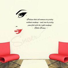 Sticker Chip de femeie & Citat Bobby Brown Negru&Rosu #beautygirl #beautywoman #makeupsalon #salonmakeup #wallquote #wallquotes #bobbybrown #bobbybrownquotes #beautysalon #beautysalondesign #wallart #wallartwork #graphicdesign #salondecor #womansilhouette #walltatoo #decoratiuni #decoratiunicasa  Stickerul decorativ de perete Chip de femeie insotit cu citat motivational este potrivit pentru decorarea si infrumusetarea a unui salon de infrumusetare, dar si a unui birou sau a locuintei. Without Makeup, Bobby Brown, Graphic Design, Pretty, Home Decor, Women, Decoration Home, Room Decor, Bobbi Brown