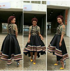 would make the bodice white with tsonga print skirt African Party Dresses, African Dresses For Women, African Print Dresses, African Print Fashion, Africa Fashion, African Fashion Dresses, African Women, African Outfits, Xhosa Attire