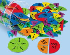 Fractions, decimals & percents circles math fraction/décimale дроби et Decimal, Circle Math, Lakeshore Learning, Math Fractions, Math Manipulatives, Homeschool Math, Video Games For Kids, Math For Kids, Home Schooling