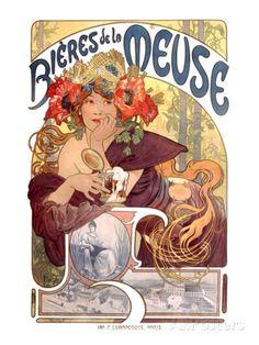 Bières de La Meuse reproduction procédé giclée