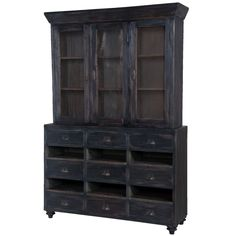 French Country Farmhouse Display Cabinet