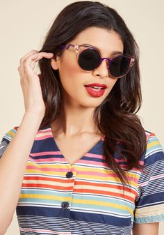 Same Statement, Different Day Sunglasses in Rose by PERVERSE sunglasses from ModCloth
