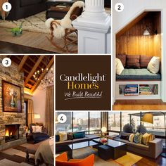 VOTE BELOW for your favorite cozy living space! For details on these warm and inviting rooms, visit our blog! #candlelighthomes #utahhomes #utahbuilder #newhomesutah #webuildbeautiful #homedecor #interiordesign #home #cozy #utah