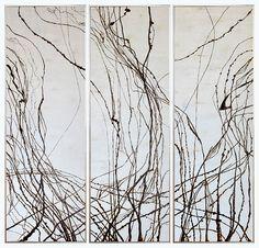 现代中式手工三联艺术壁挂软装设计装饰画(120*120CM)-淘宝网全球站
