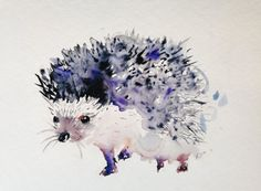 Hedgehog  giclee print of original art illustration by Kribro, €22.00