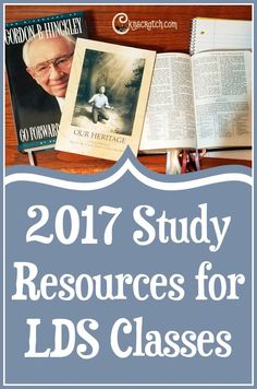 Great list of additional resources to study this year- I really liked the scripture mapping (Gordon B. Hinckley and Doctrine & Covenants)