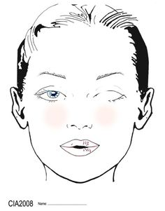 10 Blank Face Chart Templates (Male Face Charts and Female Face Charts) Bobbi Brown, Blonde With Blue Eyes, Face Template, Makeup Face Charts, Makeup For Older Women, Dark Circles Under Eyes, Face Illustration, Facial, Draw On Photos