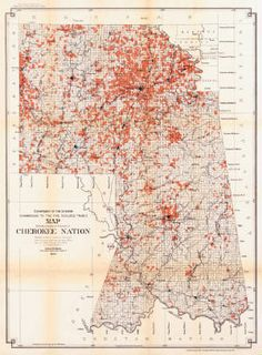 Antique Map of the Cherokee Nation 1903