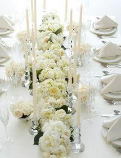 Long Table Decorations, Wedding Flower Decorations, Decoration Table, Reception Decorations, Wedding Centerpieces, Dining Decor, Centrepieces, Table Centerpieces, Elegant Table Settings