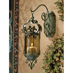 Crown Royale Hanging Pendant Lantern - Medieval Home Decor - Medieval & Gothic - Design Toscano on Wanelo - great idea for hanging the Middle Eastern lanterns, too Lantern Set, Wall Lantern, Lantern Pendant, Lantern Image, Tuscan Design, Tuscan Style, Candle Lanterns, Candle Sconces, Wall Sconces