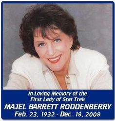 She was Number One in the very first Pilot, Nurse Chapel in TOS, Lwaxana Troi in STTNG, and the computer voice in DS9, and Voyager.