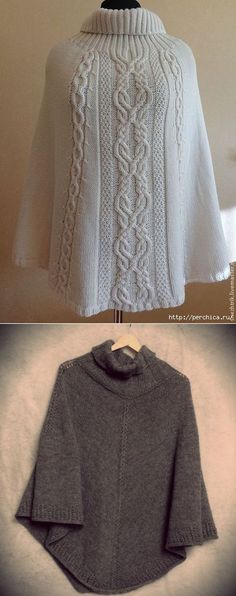 Poncho radios * Swansong *   knitting modelo   POSTE