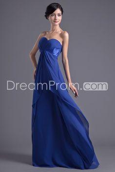Bridesmaid Dresses/Evening Dresses/Prom Dresses A-Line Sweetheart Sleeveless Empire Zipper Floor-Length Chiffon Pleats