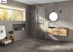 Norr on pohjoismaiseen makuun iskevä taiteellinen tulkinta mosaiikkibetonista.  Norr-laatoilla luot luonteikkaan laatoituksen kylpyhuoneeseesi.