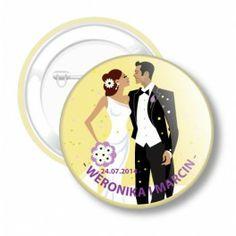 Przypinki Ślubne dla Młodej Pary i gości weselnych nr 40