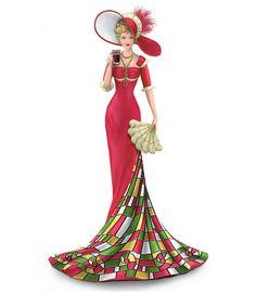 Thomas Kinkade Lady Figurines