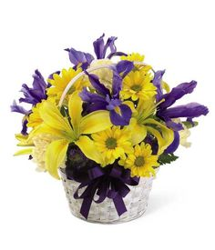 Gifts 2 the door has come up with some amazing gift idea for women easter basket flower arrangements basket from grower direct fresh cut flowers negle Choice Image