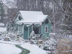 sweet cottage in winter