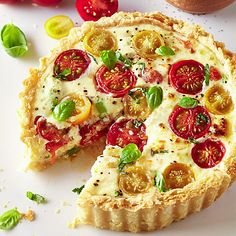 Ricotta with fresh tomato and basil tart -   This tart sounds really scrummy and easy to make using ready bought pastry  - from Lakeland.