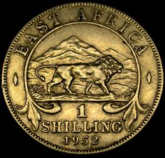 1952 British Colonial East Africa One SHILLING Coin in GREAT SHAPE!