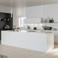 Kjøkkeninspirasjon - Hvitt kjøkken - System 10 Bistro