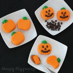 Hungry Happenings: Serve these Bite Size Cheesecake Pumpkins as is or add mini chocolate chip jack-o-lantern faces for a fun Halloween treat.