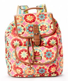 e99d658f019 Look at this Pink Botanical Blossom Lizzy Backpack on  zulily today! Lily  Bloom Bags