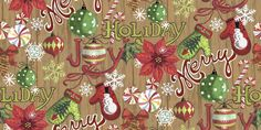 Holiday Inspirations Fabric-Merry Holiday Wood FabricHoliday Inspirations Fabric-Merry Holiday Wood Fabric,
