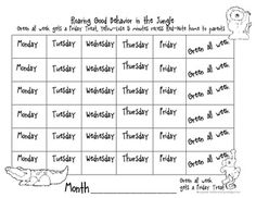 This is a jungle themes stoplight discipline chart that can be used to for behavior management in the classroom.... $0