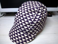 """「鱗文様」""""scale pattern"""" handmade cycling cap"""