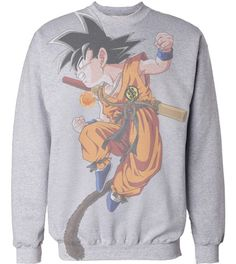 DBZ kid GOKU sweatershirt i would wear the shit out of this