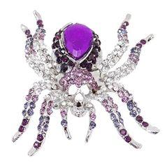 EVER FAITH Halloween Spider Brooch Purple Austrian Crystals http://www.amazon.com/dp/B00FPJB8Q6/ref=cm_sw_r_pi_dp_LvjUvb17YADXE