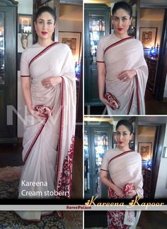 Not Only women of India fancy about Bollywood but women around the globe… Bollywood Sarees Online, Bollywood Designer Sarees, Latest Designer Sarees, Bollywood Fashion, Designer Kurtis, Bollywood Style, Bollywood Actress, Indian Dresses, Indian Outfits