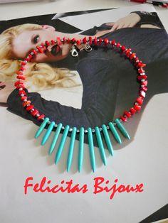 Collana Anemone - Anemone Necklace - http://felicitasbijoux.wix.com/felicitasbijoux