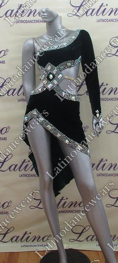 LATIN RHYTHM SALSA BALLROOM DANCE DRESS COMPETITION - SIZE S, M, L (LT743)