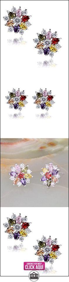 Stud Earrings Sterling Silver Colored Swarovski Elements Crystal Snowflake Post Screwback For Women  ✿ Joyas para mujer - Las mejores ofertas ✿ ▬► Ver oferta: https://comprar.io/goto/B00LMASXSI