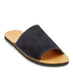 Navy leather slide sandals that support youth and the environment.These beauties are a tribute to our hometown, Cabarete.Inspired by the Atlantic Ocean that surrounds our Your Shoes, Deep Blue, Slide Sandals, Footwear, Pairs, Navy, Heels, Sundresses, Atlantic Ocean
