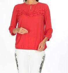 👉🏻Kırmızı Göğsü Fırfırlı Bluz 🏷20,94₺ ℹ️36, 38, 40 bedenleri mevcuttur. 🌏www.anindagiyim.com/urun/kirmizi-sifon-bluz ☎️ 0212 438 73 25 ✅ Kapıda Ödeme ✅ Ücretsiz Kargo #moda #giyim #alışveriş #kadıngiyim #stil #trend #fashion #style #kırmızı #bluz #kırmızıbluz #fırfırlıbluz #kırmızıfırfırlıbluz #clothes #yenisezon #indirim #ücretsizkargo #model Tunic Tops, Blouse, Long Sleeve, Sleeves, Clothes, Women, Fashion, Blouse Band, Outfit