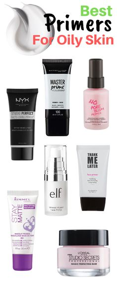 Best Makeup Primers For Oily Skin Oily-skinned women have a hard time trying to retain their m Best Foundation Primer, Best Primer For Oily Skin, Beste Foundation, Best Makeup Primer, No Foundation Makeup, Best Makeup Products, Makeup Tips, Matte Primer, Matte Makeup