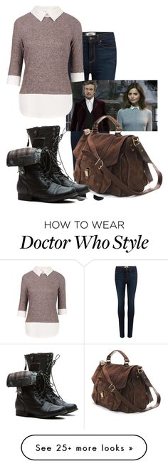 """Doctor Who - Clara Oswald"" by pigfartsandcandycorn on Polyvore featuring Paige Denim and Proenza Schouler"