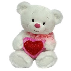 First  Main Lovey Cuddleup White Teddy Bear Plush in Sitting Position 10 >>> To view further for this item, visit the image link. (Note:Amazon affiliate link)